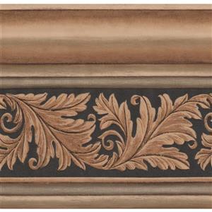 York Wallcoverings Victorian Crown Molding Damask Wallpaper
