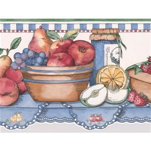 Retro Art Fruits on Kitchen Table Wallpaper