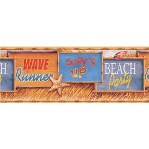 York Wallcoverings Beach Surf Wallpaper Border
