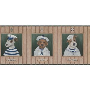 York Wallcoverings Dog Sailor Nautical Wallpaper Border