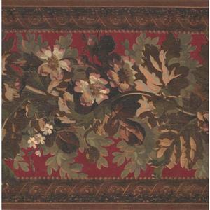 York Wallcoverings Vintage Floral Wallpaper - Purple