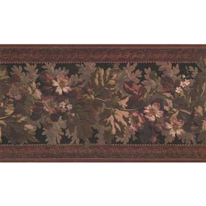York Wallcoverings Vintage Floral Wallpaper - Black