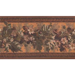 York Wallcoverings Vintage Floral Wallpaper - Yellow