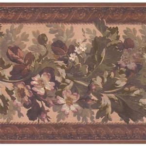York Wallcoverings Vintage Floral Wallpaper - White