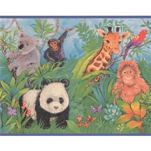 Retro Art Jungle Animals Wallpaper