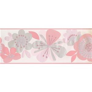 York Wallcoverings Abstract Floral Wallpaper Border