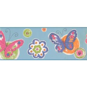 York Wallcoverings Butterfly Wallpaper Border - Blue