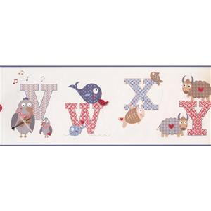 York Wallcoverings Alphabet and Animals Wallpaper Border