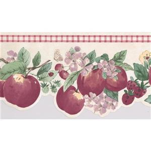 York Wallcoverings Fruit Wallpaper Border - White