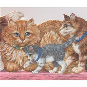 Retro Art Cats and Kittens Wallpaper