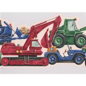 Retro Art Kids Truck Wallpaper Border