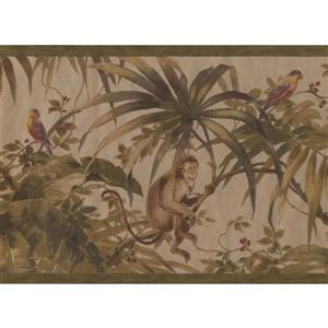 Retro Art Jungle Monkey Wallpaper Border