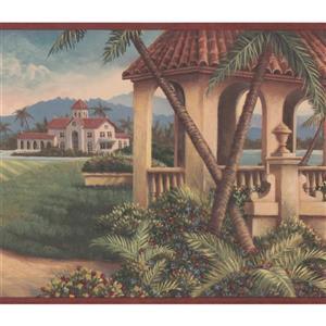 Retro Art Golf Course Vintage Wallpaper Border