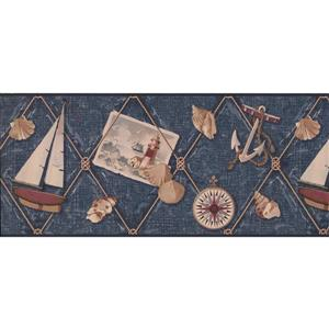 York Wallcoverings Nautical Wallpaper - Blue