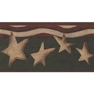 York Wallcoverings Patriotic Stars and Stripes Wallpaper