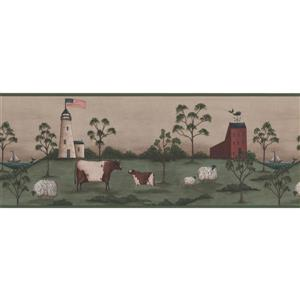 York Wallcoverings Lighthouse and Cows Wallpaper