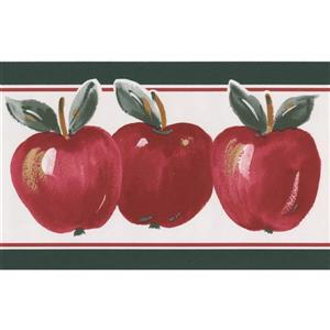 Norwall Red Apples Wallpaper Border