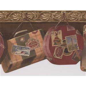 Retro Art Vintage Suitcases Wallpaper - Brown