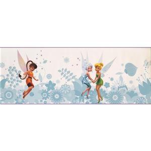 York Wallcoverings Disney Fairies Tinker Bell Wallpaper - Blue