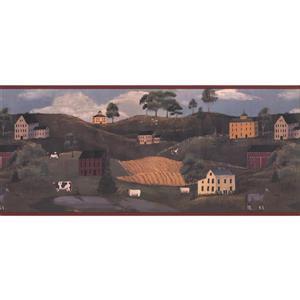 York Wallcoverings Village Wallpaper Border