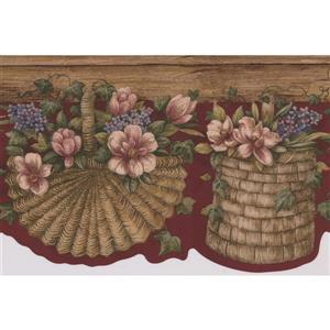 Retro Art Flower Pots Wallpaper