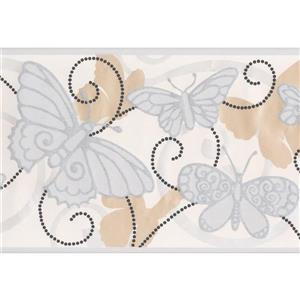 York Wallcoverings Sepia and Frost White Butterflies Wallpaper
