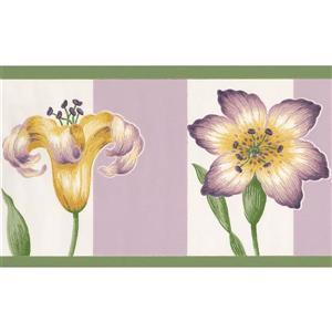 York Wallcoverings Floral Wallpaper - Purple