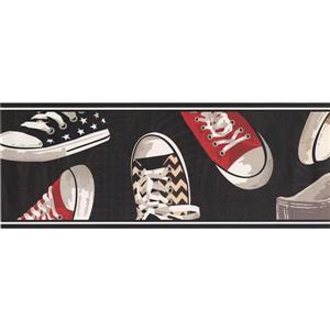 York Wallcoverings Retro Sneaker Wallpaper Border