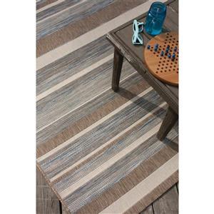 Kalora Trellis Stripe Rug - 3 x 5' - Gray