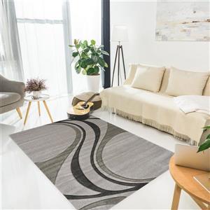 Kalora Hudson Abstract Rug - 2 x 4' - Gray