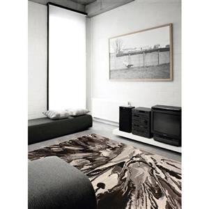 Kalora Flint Abstract Rug - 8' x 11' - White