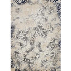 Clarity Muted Vines Grey Area Rug