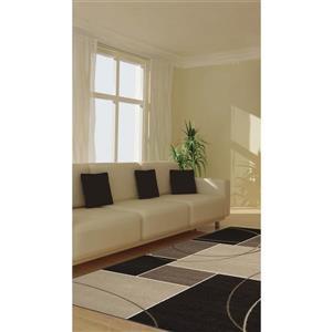 Kalora Casa Geometric Rug - 4' x 6' - Charcoal