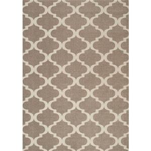 Camrose Brown/Cream Signature Area Rug