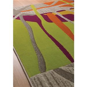 Kalora Topaz Abstract Rug - 8' x 11' - Gray