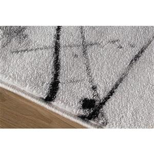 Kalora Platinum Abstract Rug - 5' x 8' - White