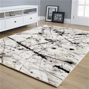 Kalora Platinum Abstract Rug - 8' x 11' - White