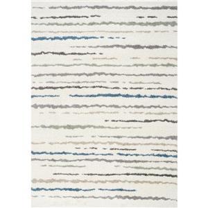 Kalora Mona Stripe Rug - 8' x 11' - Cream