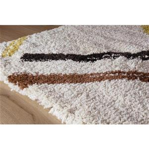 Kalora Maroq Geometric Rug - 8' x 11' - Cream