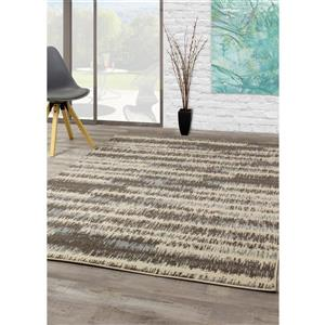 Kalora Casa Stripe Rug - 6' x 8' - Red
