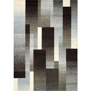 Casa Brown/Grey Overlapping Rectangles Area Rug