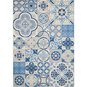 Camino Blue Quilted Design Area Rug