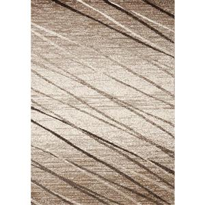 Camino Diagonal Brown Ribbons Area Rug