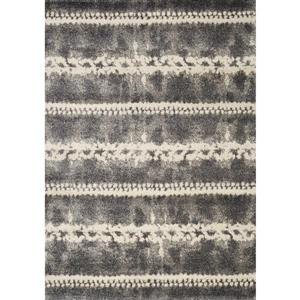 Ashbury Dotted Lines Grey Area Rug