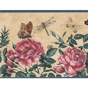 Norwall Butterly Dragonfly Wallpaper Border - 15' x 7-in- Pink