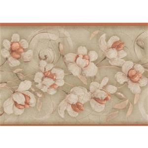 York Wallcoverings Floral Wallpaper Border - 15-ft  - White