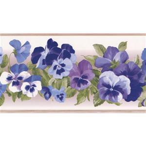 York Wallcoverings Floral Wallpaper Border - 15-ft x 6-in - Purple
