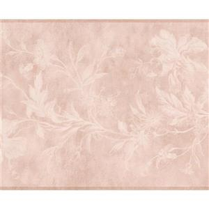 York Wallcoverings Flowers on Vine Wallpaper Border - 15-ft x 6.5-in - Beige