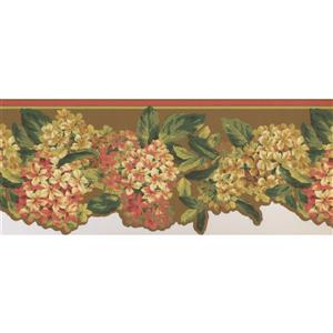 York Wallcoverings Floral Wallpaper Border - 15-ft x 9.5-in - Red