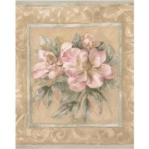 Norwall Flower Bouquets Wallpaper Border - 15' x 9-in- Beige